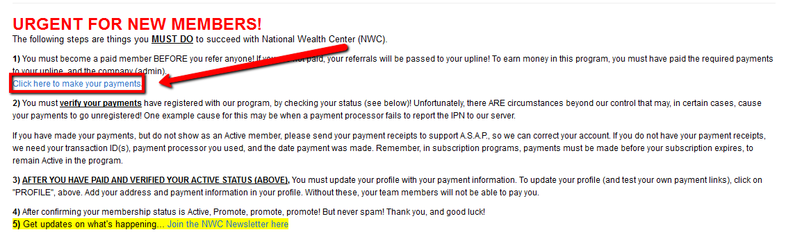 national wealth center admin fee how to pay